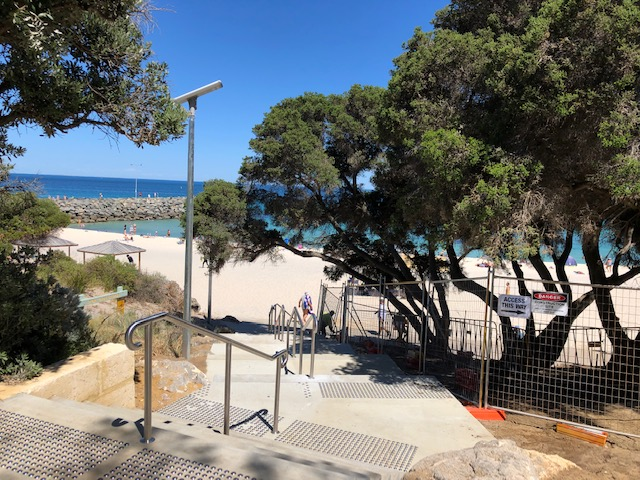 Upgraded universal access path on Cottesloe foreshore