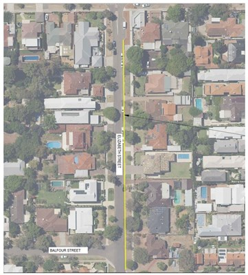 Elizabeth Street Line Marking - - Option Two