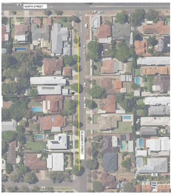 Elizabeth Street Line Marking - - Option Three