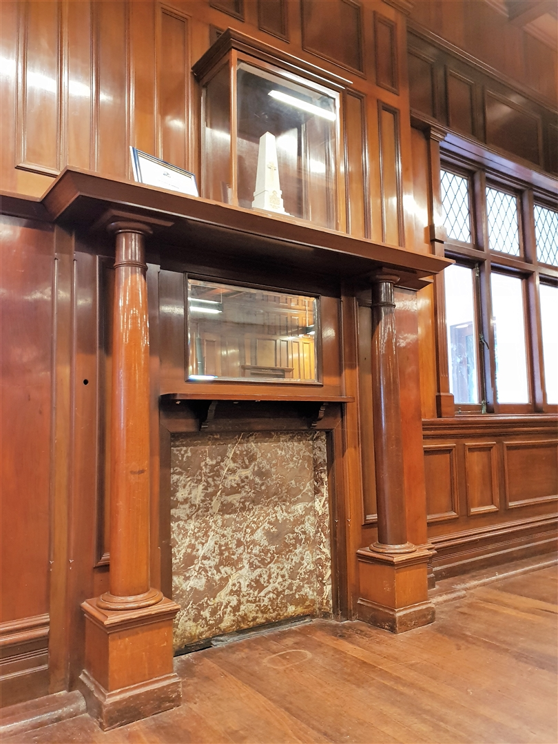 War Memorial Hall - Fireplace