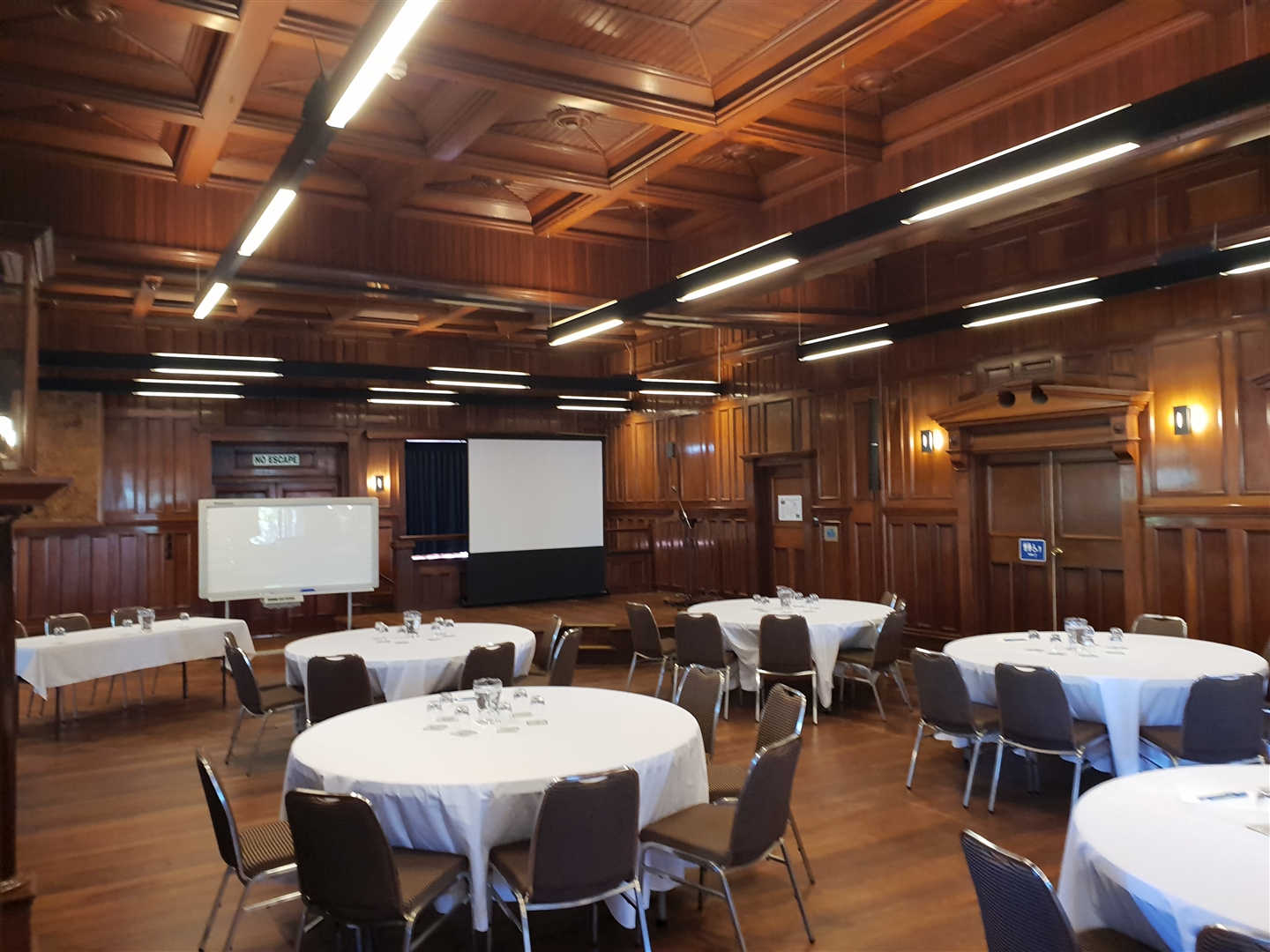 War Memorial Hall - Example Conference Set Up
