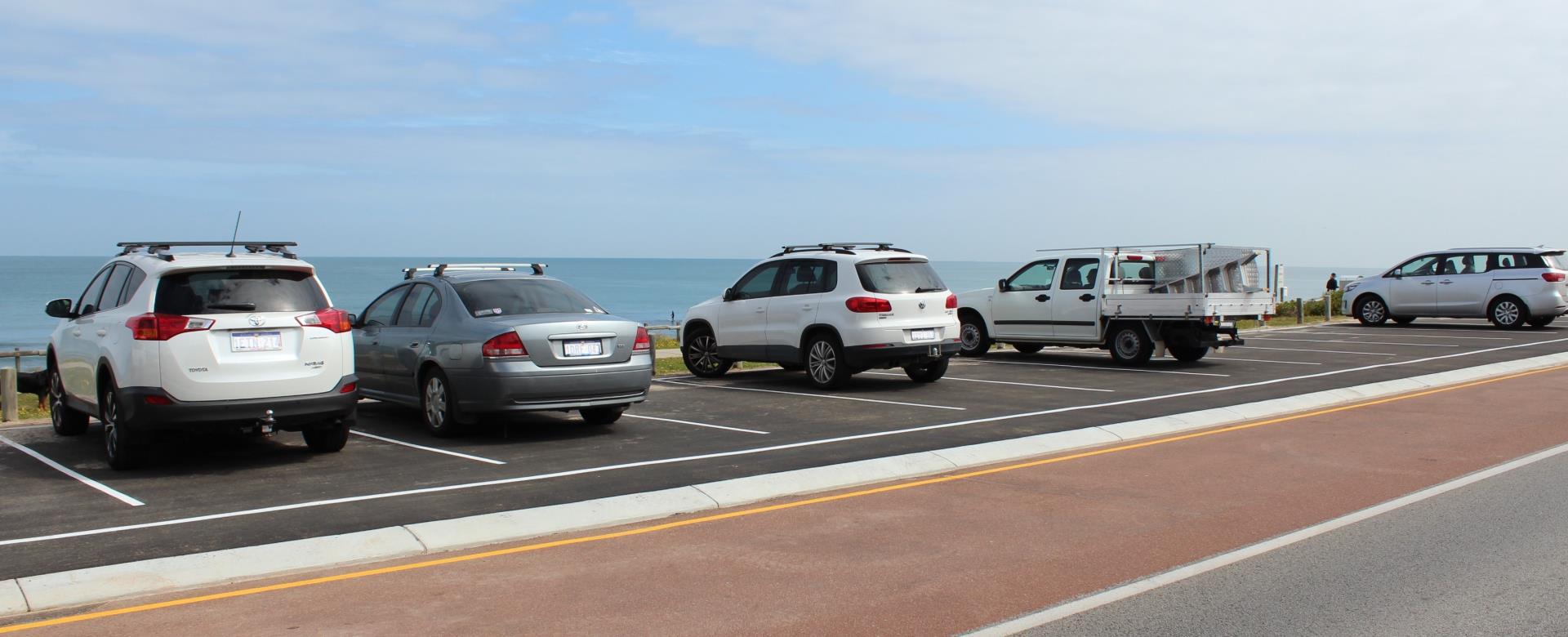 Carpark overlooking Cottesloe Beach